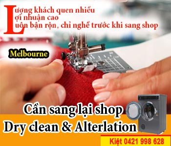 Cần sang lại shop Dry clean & Alterlation vùng Melbourne